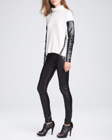 Milly Stretch Leather Leggings