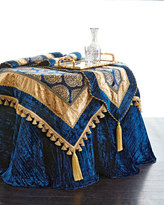 Divine Designs Kari Sapphire & Gold Table Topper