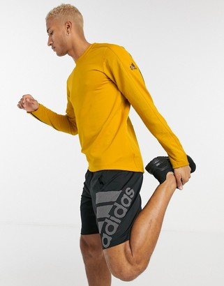 adidas Training cold rdy long sleeve top in yellow