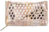 Diane von Furstenberg Stud-Embellished Suede Clutch