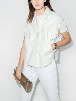 MM6 MAISON MARGIELA Fringe-Trim Short-Sleeve Jacket