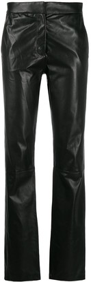 FEDERICA TOSI High-Waisted Leather Trousers