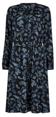 Dorothy Perkins Womens Only Navy Paisley Print Shirt Dress