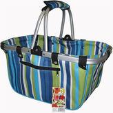 JanetBasket Large Blue Stripes Aluminum Frame Basket
