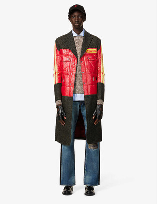 Junya Watanabe x Pirelli wool-blend and shell coat