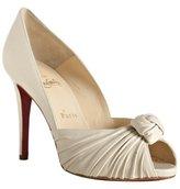 ivory leather peep toe 'Gres's 100' pumps