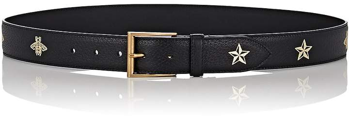 Gucci Men's Bee & Star Leather Belt