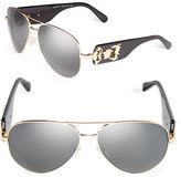 Versace 62mm Aviator Sunglasses - VE2150Q