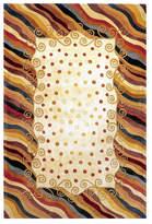 "Momeni Area Rug, Perspective Frames Beige 9' 6"" x 13' 6"""