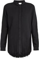 Simon Miller Yava frayed-hem cotton shirt