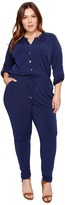MICHAEL Michael Kors Plus Size Roll Sleeve Raglan Jumpsuit Women's Jumpsuit & Rompers One Piece