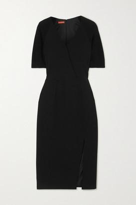 Altuzarra Carolina Crepe And Wool And Cashmere-blend Dress - Black
