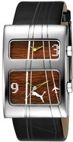 Puma Unisex PU101601003 Dual Silver and Wood Grain Dial Watch