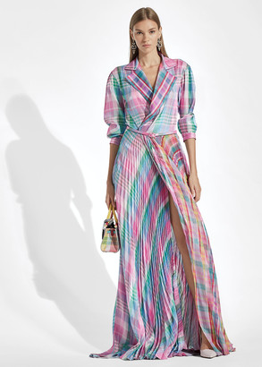 Ralph Lauren Taylah Madras Evening Dress