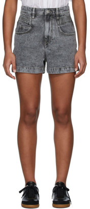 Etoile Isabel Marant Grey Denim Hiana Shorts