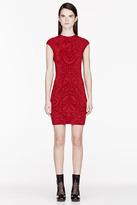 Alexander McQueen Ruby Red Knit Jacquard dress