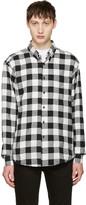 Naked & Famous Denim Black & White Herringbone Buffalo Check Shirt