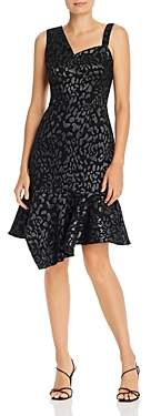 Laundry by Shelli Segal Shimmer Animal Print Shift Dress