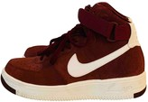 Nike Force 1 Burgundy Suede Trainers