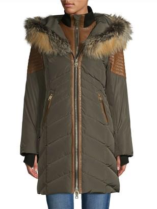 Nicole Benisti Cortina Fox Fur & Leather-Trim Down Coat