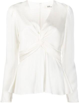 Dvf Diane Von Furstenberg Heylee twist front blouse