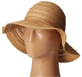 San Diego Hat Company PBL3078 Four Buttons Paper Braid Floppy Hat with Self Knotted Tie Traditional Hats