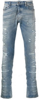 Diesel Black Gold distressed slim-fit jeans