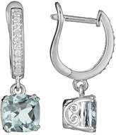 Kohl's Sterling Silver 1/10-ct. T.W. Diamond and Aquamarine Drop Earrings
