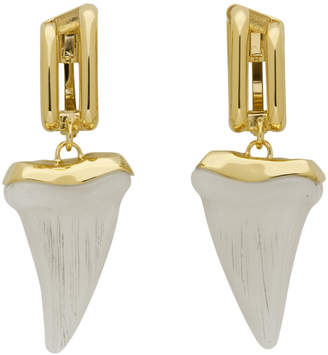 Chloé Gold and Off-White Tooth Earrings