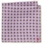 Isaia Medallion Miscellane Silk Handkerchief