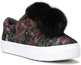 Sam Edelman Leya Jacquard and Faux Fur Pom-Pom Slip-On Sneakers