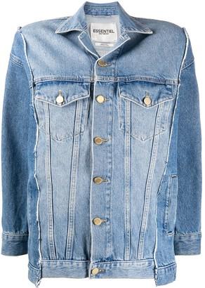 Essentiel Antwerp Contrast Panel Crop Sleeve Jacket