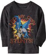 "Old Navy DC Comics™ Batman ""I Do My Own Stunts!"" Tees for Baby"