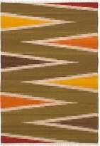"Ecarpetgallery Hand-woven Izmir Kilim Abstract 5'5"" x 7'10"" 100% Wool area rug"