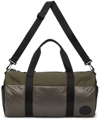 HUGO BOSS Multicolor Gabardine Duffle Bag