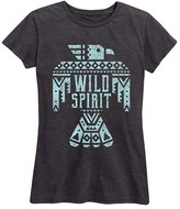 Instant Message Women's Women's Tee Shirts HEATHER - Heather Charcoal 'Wild Spirit' Geometric Bird Relaxed-Fit Tee - Women & Plus