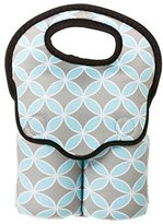 Evergreen Grey and Turquoise Clover Print Double Baby Bottle Bag