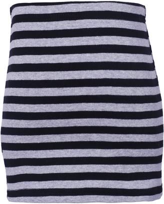 Richie House Girls' Casual Skirts Navy/grey - Navy & Gray Stripe Skirt - Toddler & Girls