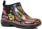 Western Chief Black Fun Leaves Rubber Ankle Rain Boot