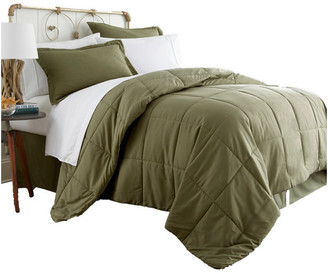 IENJOY HOME Becky Cameron 8-Piece Bed In a Bag, Sage, Queen
