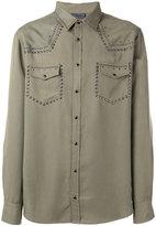 Laneus metallic-embellished shirt