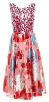 DELPOZO Embroidered Short Dress