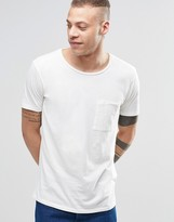 Nudie Jeans Nudie Worker Pocket T-shirt In Off White
