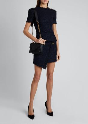 Balmain Tweed Short-Sleeve Top