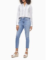 Striped Linen Blend Button-Down Shirt