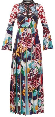 Mary Katrantzou Desmine Pleated Baroque-print Crepe Dress - Womens - Multi