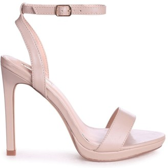 Linzi HIGHER LOVE - Nude Nappa Open Back Barely There Stiletto Sandal
