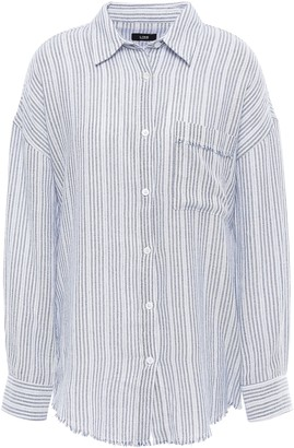 Line Frayed Cotton-crepe Shirt