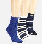 Avenue Variegated Stripe Cozy Socks 3-Pack
