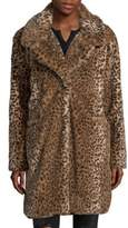 C&C California Faux-Fur Cheetah Coat